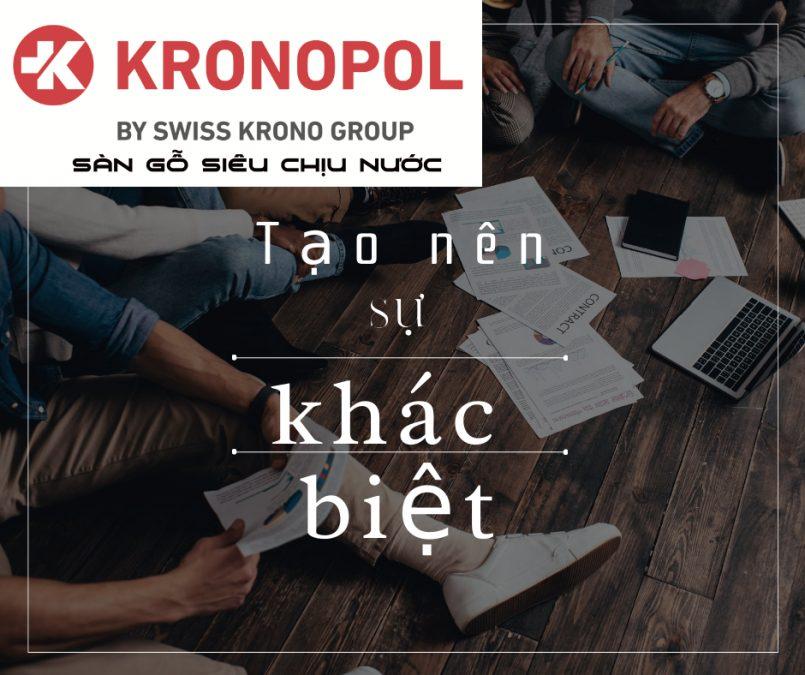 5 điều làm cho sàn gỗ Kronopol trở nên khác biệt