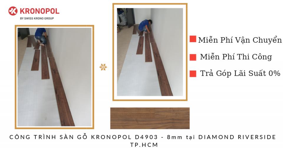Công trình sàn gỗ Kronopol D4903 8mm tại Diamond Riveside